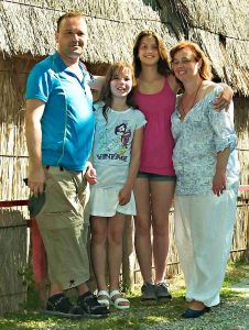 fotografie šťastné rodiny